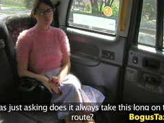 Squirting taxi brit fucked by bogus cabbie