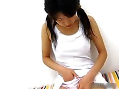Horny japanese teen masturbating video