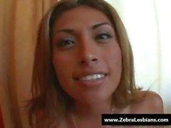 Zebra Girls - Ebony lesbian babes fuck deep strap-on toy 06