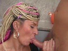 Crazy Rasta granny horny