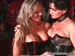 Kinky dominatrix Carmen is showing part4