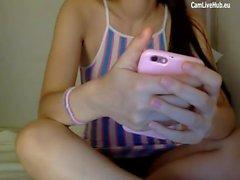 18 year old teen mega tease on cam