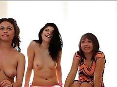3 amateur Cali girls give triple blowjob