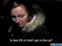 PublicAgent Straight sex in car in public