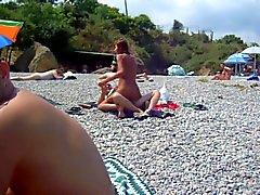Russisch Paare ficken auf Strand