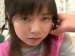 Asiatiska nätt skol blir varmt