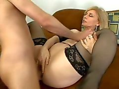 Classic Nina Hartley gets butt fucked