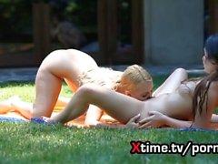 Lesbian amazing European girls in love - round 2 - HD