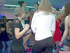 Euro amateur rimming babe on dancefloor