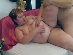 Redhead 40 fat ass pleases young neighbour