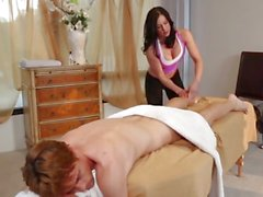 Getting it from the hot masseuse