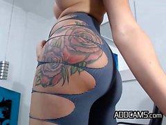 Titillating Tattooed Shemale Escort