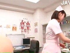 Horny Nurse Serving Guy