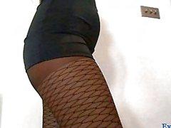 Pantyhosed Taylor Morgan