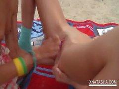 Hot Natasha Shy pleasing her lesbo GFs snatch