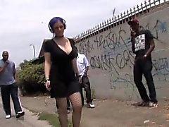 Mass black gangbang with Larkin Love