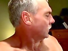 Mature gaystraight biker gets facial