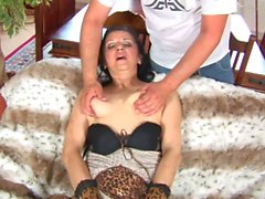 Granny Reena can't stop sucking a cock