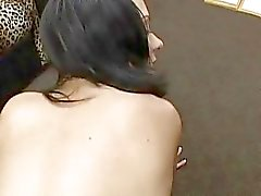 Dark haired slut with tight booty gets slammed in POV