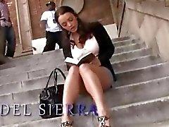 Busty Liza Del Sierra taking 2 black cocks