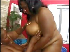 Fiendish chubby black foreskin hunters with sublime nests, Sabrina and Daphnie, lez it up