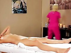Lesbian masseuse licks asian