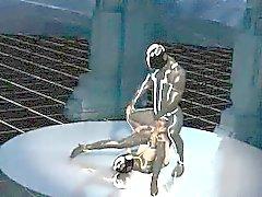 Pechugóa nova dos desenhos animados 3D Tron baby começa fodido duramente