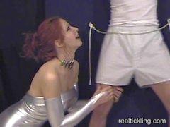 Priscilla tickle tortures a guy