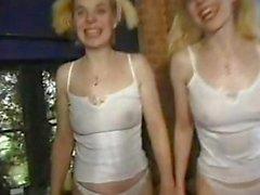 Horny Sisters Shag 2 Dicks