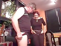 Granny in Stockings Fucks the Repairman
