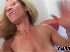 Two big cocks for a raunchy MILF
