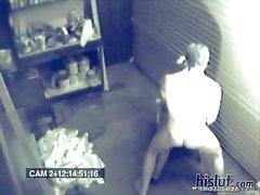 The auto shop security cameras
