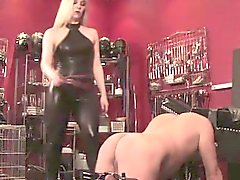British bdsm femdom degrades sub old guy