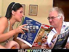 Fästman kallar killen att knulla hans fru