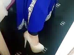 My paki girlfriend recording herself for me showing heels