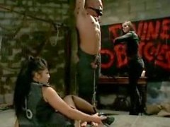 Hot asian mistress with her girlfriend pervert tied male victim i