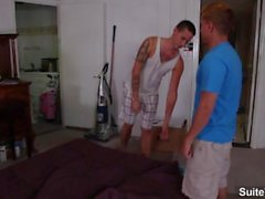 Sweet brunette gays Camden Christianson and Lex Sabre fucking hard and cumm