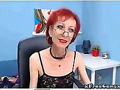 Very skinny 55 year old granny play