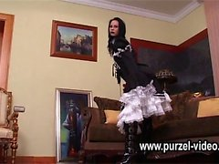 cosplay gothic domina queen by her first oops ubskirt castin