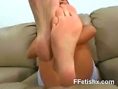 Awesome Foot Fetish Chick XXX Makeout