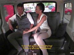 FuckedInTraffic - Brunette Alicia giving BJ to her driver