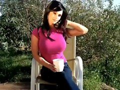 Denise Milani sexy Pink Shirt - non nude