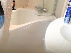 a bath is taken by parker