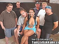 Hottie Latina Sperm Flying Orgy!