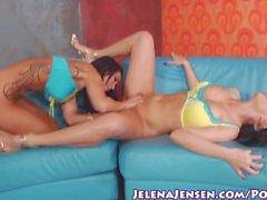 Pussy Busty babe Jelena Jensen Licks Sandee!