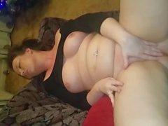 Big Tit British Girl Rubs her Big Wet Pussy