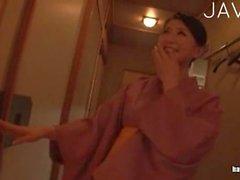Petite Japanese posing nude