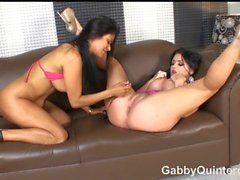 Sexy MEXI MILF Gabby Quinteros Plays with Sophie Dee!