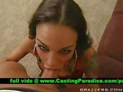 Angelina Valentine busty brunette gagging huge cock