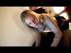 Cute Blonde Teen spanked